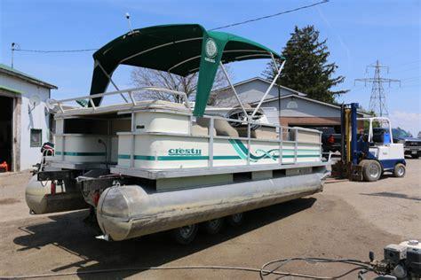 1997 Crest Pontoon Boat by 1997 22 Crest Ii Pontoon No Motor Ocp Boats