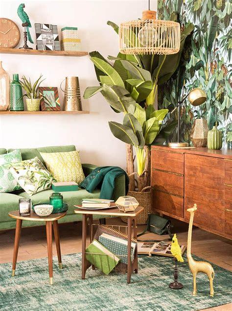 tendance deco caliente culture du farniente maisons du monde tropical jungle deco salon