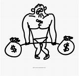 Coloring Weight Lifting Weights Money Clipart Clipartkey sketch template