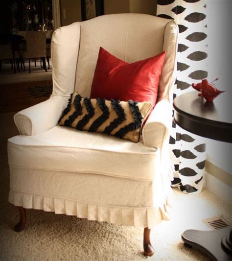 remodelaholic slipcovered wingback chairthat