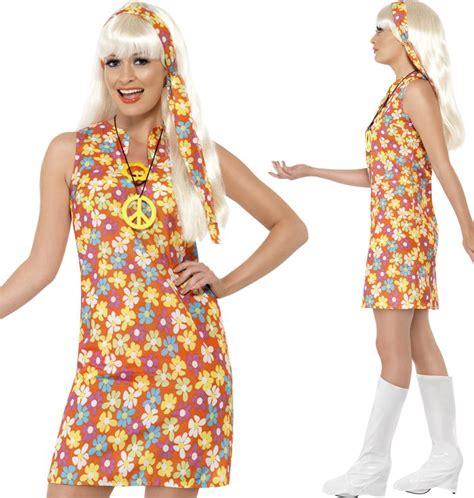 mottoparty 70er kleidung hippie kost 252 me 70er jahre damen paisley flower power