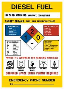 product identification diesel fuel western safety sign With diesel fuel msds
