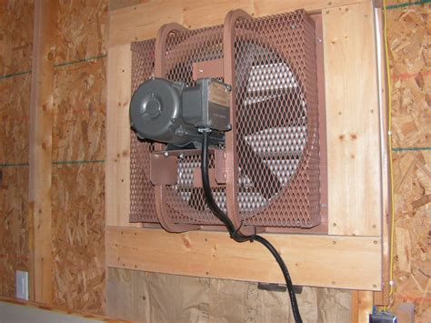 warehouse exhaust fan installation wall exhaust fan for garage installation a guide to