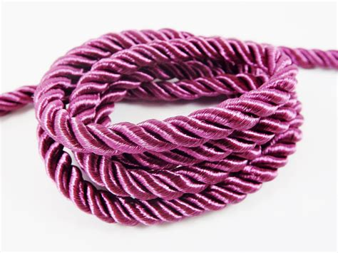 purple wine 5mm twisted rayon satin rope silk braid cord 3
