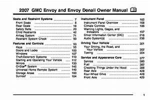 2007 Gmc Envoy Owners Manual