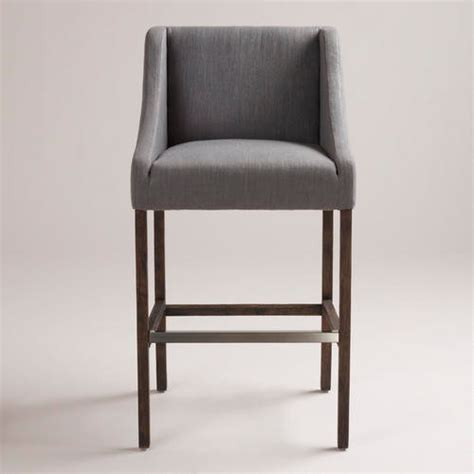 gray hayden barstool modern bar stools and counter