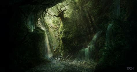 Artwork Fantasy Magical Art Forest Tree Landscape Nature