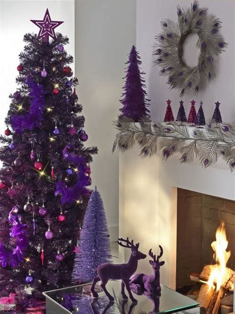 purple christmas trees purple christmas tree purple