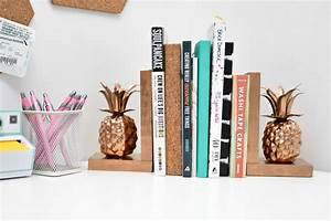 Diy, Pineapple, Bookends