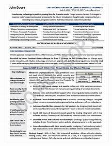 executive resume sample chief information officer With cio resume template