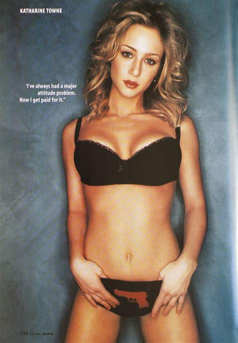katharine towne sexy maxim magazine 43 jul 2001 katharine towne editorial pg