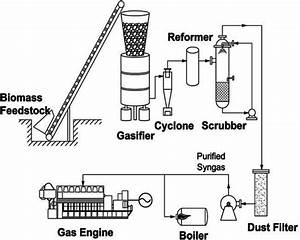 Schematic Diagram Of The Gasifier
