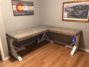 diy l shape desk woodworkingprojectscomputerdesk diy