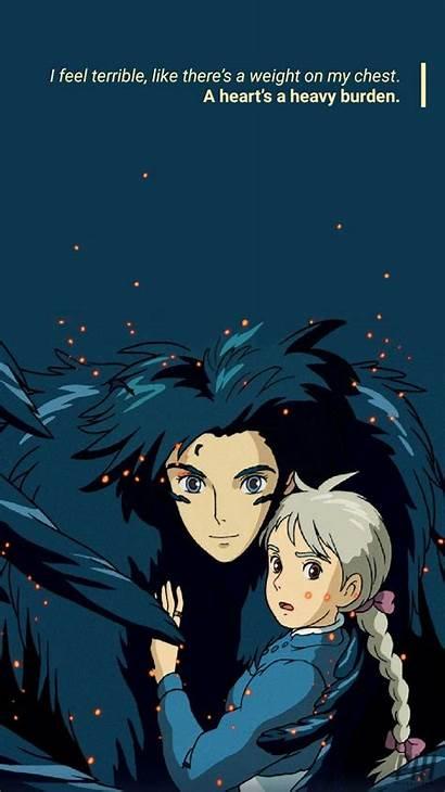 Ghibli Studio Howl Wallpapers Aesthetic Anime Castle