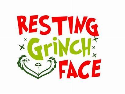 Grinch Resting Face Clipart Svg Silhouette Cricut