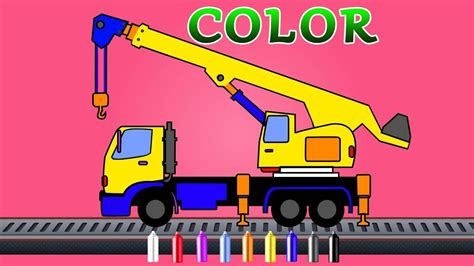 crane coloring video  kids color song