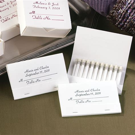 personalized place card matches invitations  dawn