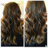 Dark Brown Hair With Caramel Highlights | 720 x 716 jpeg 89kB