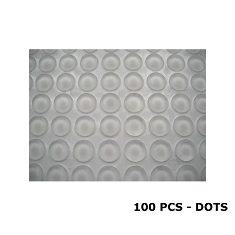 clear silicone dots rubber feet door pad bumper der self adhesive 10 3mm ebay