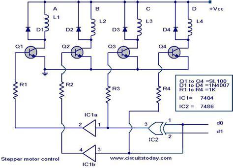 stepper motor controller driver circuit  circuit design