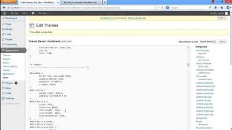 How To Edit Wordpress Style Css Youtube