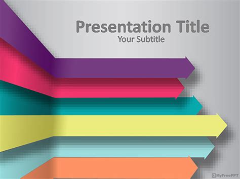 business arrows powerpoint template