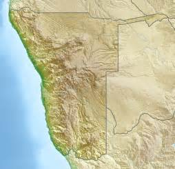 Namibia Location On Map