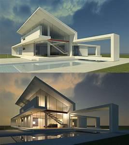 3d max exterior design design. day and night | 3D MAX ...