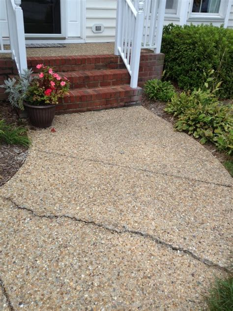 sidewalk front porch sinking needs fixing replacing