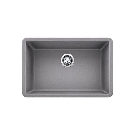 granite composite undermount kitchen sinks blanco precis undermount granite composite 27 in single 6887