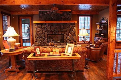 cottage window treatments cottage and lodge style craftsman living room