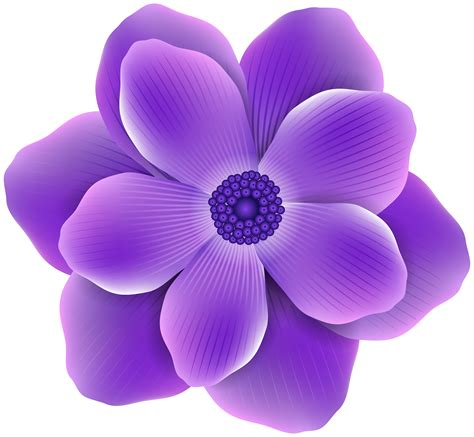 Purple Clipart Purple Clipart Purple Flower Pencil And In Color Purple