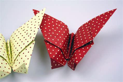 schmetterlinge basteln einfach origami schmetterling
