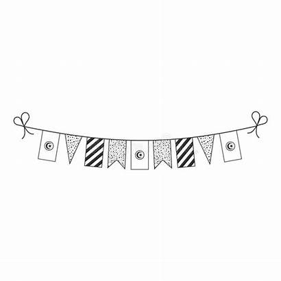 Tunisia Outline Decorations Holiday National Bunting Flags