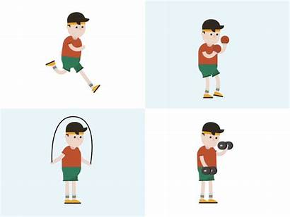 Workout Animated Animation Dribbble Motion Fitness Characters