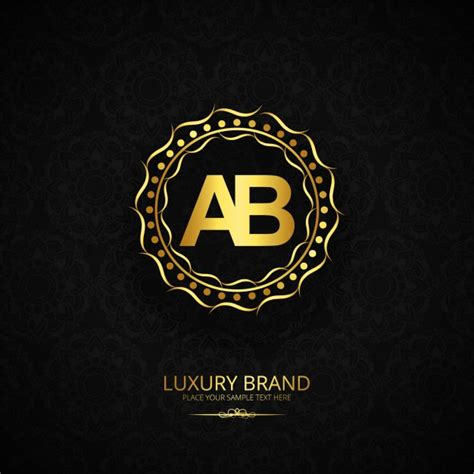 Luxury brand letter ab design Vector