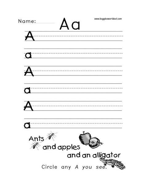 tracing letters worksheets letter a alphabet worksheets 25309 | Aa