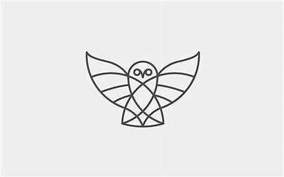 Owl Line Thin Logos Trends Tattoo Stroke