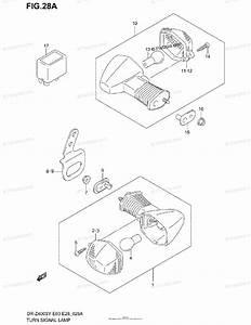 Suzuki Motorcycle 2004 Oem Parts Diagram For Turn Signal