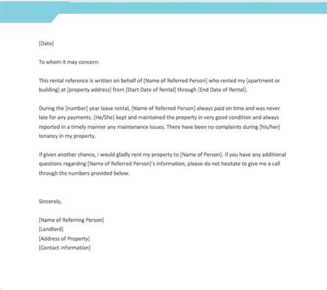 letter  recommendation  tenant world
