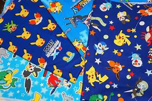 pokemon fabric pikachu fabric scrap 25