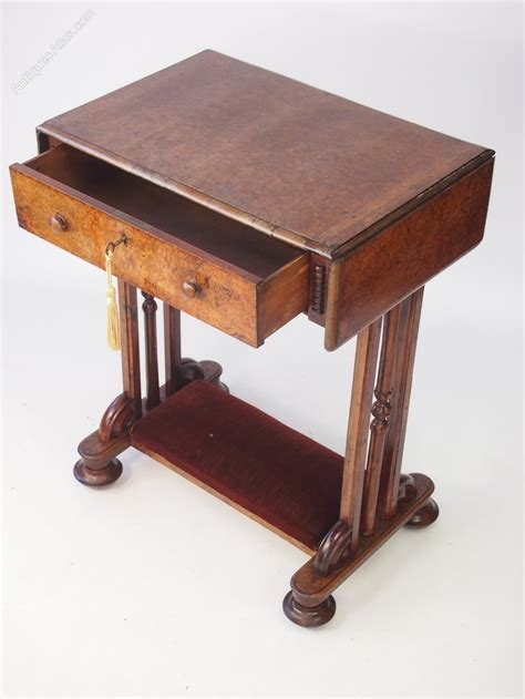 Table Or Table by Burr Walnut Drop Leaf Side Table Or Desk