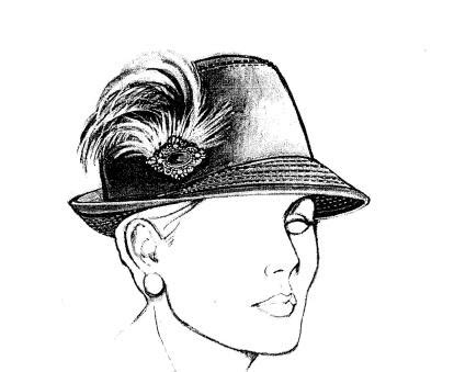 Fedora Hat Template by Flirty Fedora Hat Pattern Judith M Millinery Supply House
