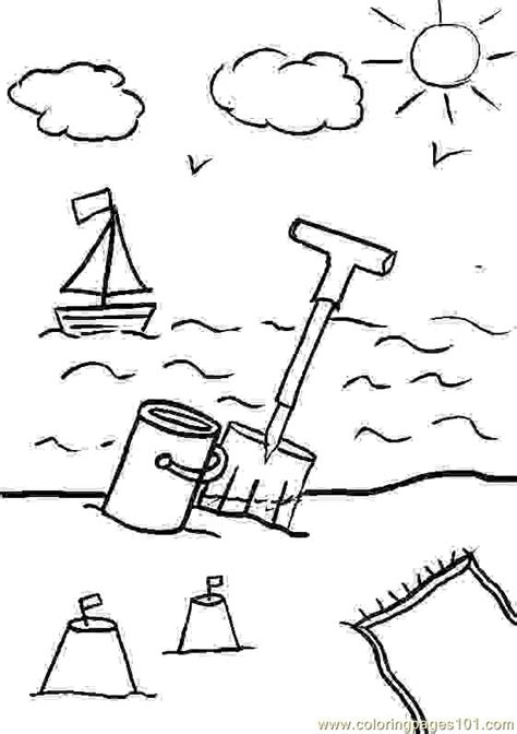 beach sun cloud coloring page  holidays coloring pages coloringpagescom
