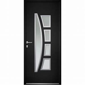 Porte D Entrée 3 Points : porte d 39 entr e aluminium riwa poussant gauche x l ~ Edinachiropracticcenter.com Idées de Décoration