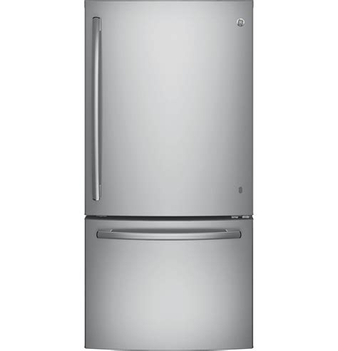 bottom drawer freezer ge appliances gde25eskss 24 9 cu ft single door bottom