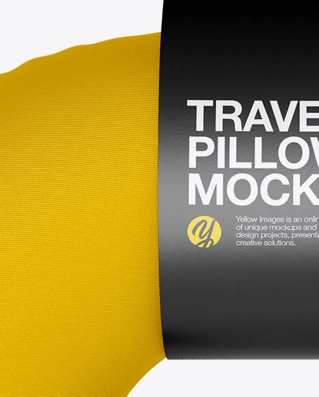 Please note, the 3d model is intentionally simplified and optimized for viewing in your browser. Travel Pillow Mockup - Front View in Object Mockups on ...