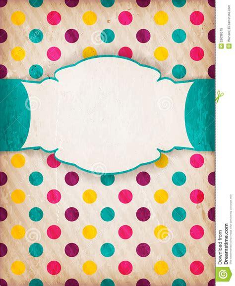 polka dot design colorful textured polka dot design with label royalty free