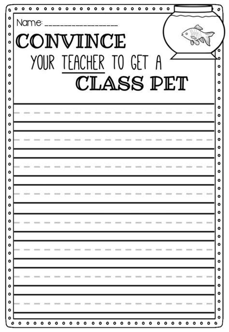Persuasive Writing Prompts  Printable Worksheet Templates  3rd Grade  Pinterest Persuasive