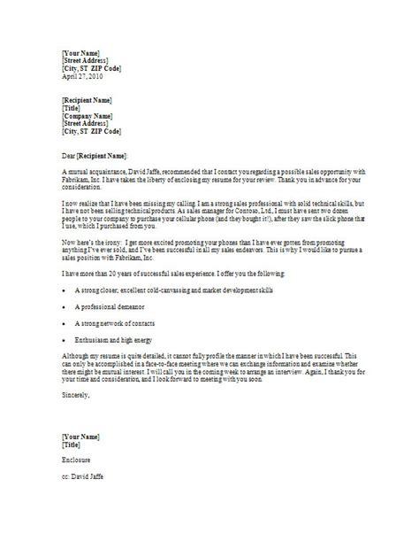 Sample Cover Letter Entry Level Sales Associate